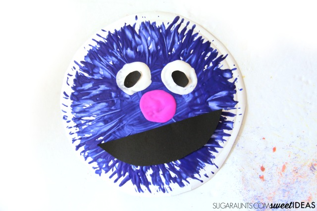 Coffee Filter Grover Fun Family Crafts