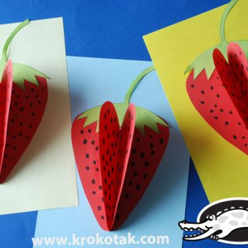 Dimensional Paper Strawberry