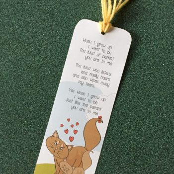 'When I Grow Up' Bookmark