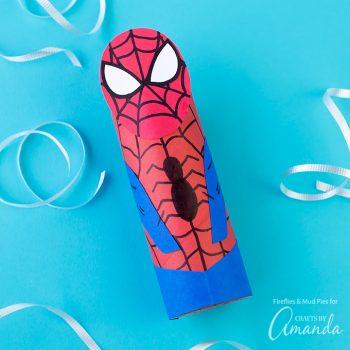 Cardboard Tube Spiderman
