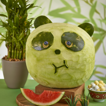Carved Watermelon Panda