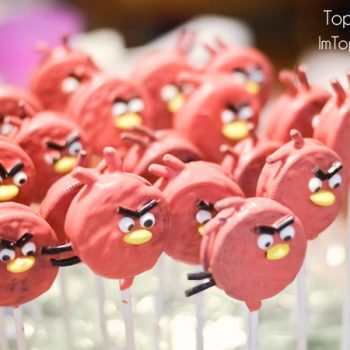 Angry Birds Oreo Pops