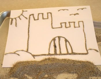 Glitter Sand Pictures