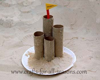 Cardboard Tube Sand Castle