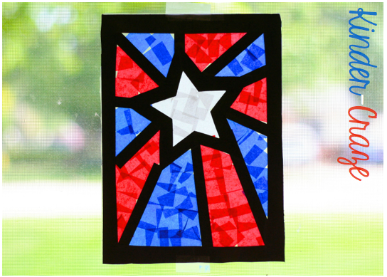 Stained Glass Windows Tissue Paper Craft With Tree