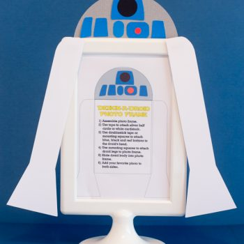 R2D2 Photo Frame Craft