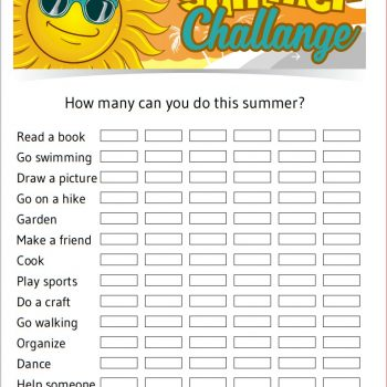Summer Challenge Printable