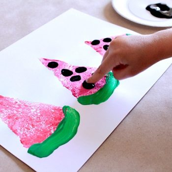 Watermelon Sponge Painting