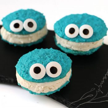 Cookie Monster Ice Cream Sandwiches