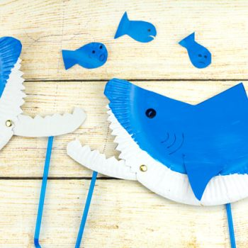Biting Paper Plate Shark Puppet