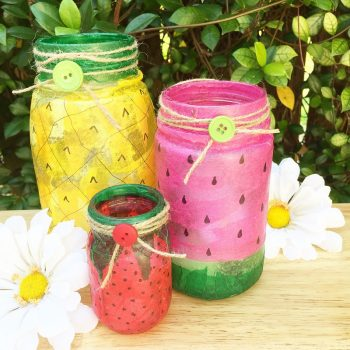 Fruit-Inspired Mason Jars