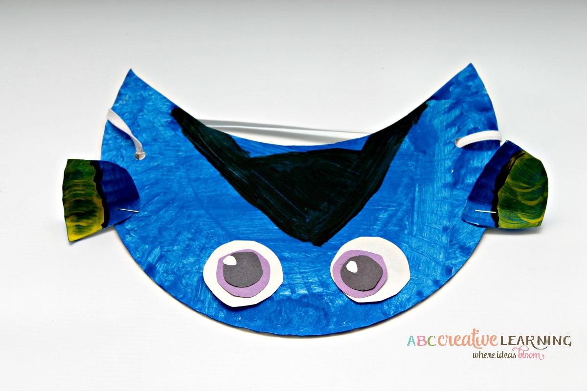 Finding Nemo Inspired Paper Plate Visor Hat For Kids Dory Fun