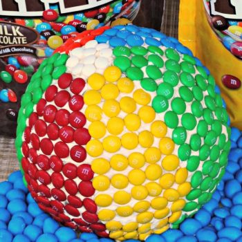 M&M Beach Ball Cake