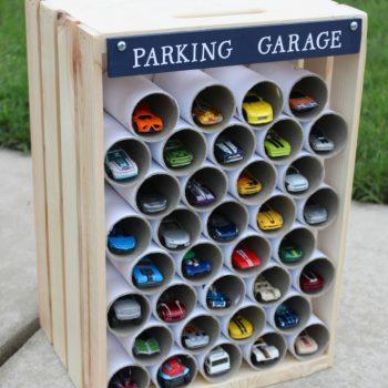 Wooden Crate Parking Garage