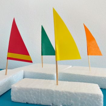 Styrofoam Sailboats
