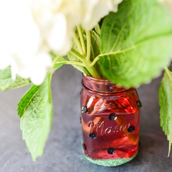 Watermelon Mason Jar Vase