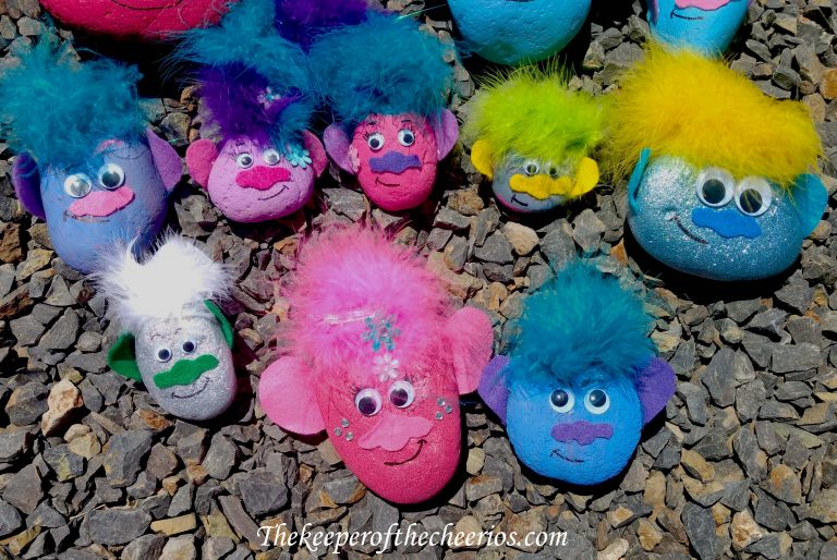 troll painted rocks fun family crafts