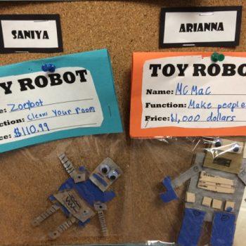 Cardboard Toy Robots