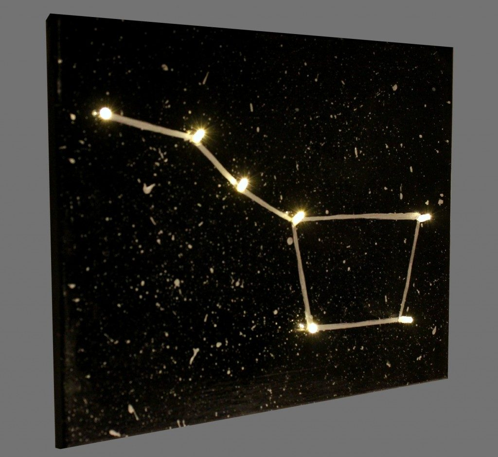 light up constellation canvas fun family crafts. Black Bedroom Furniture Sets. Home Design Ideas