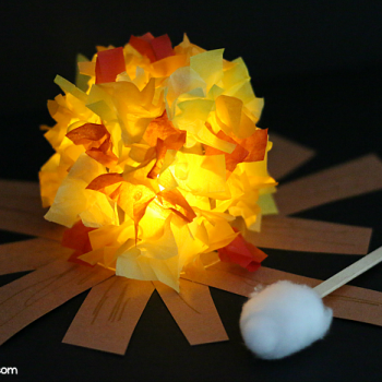 Glowing Campfire Craft