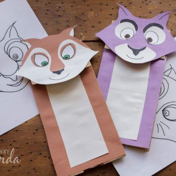 Paper Bag Squirrel Puppets