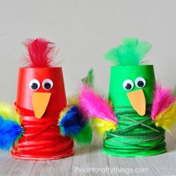 Paper Cup Parrot