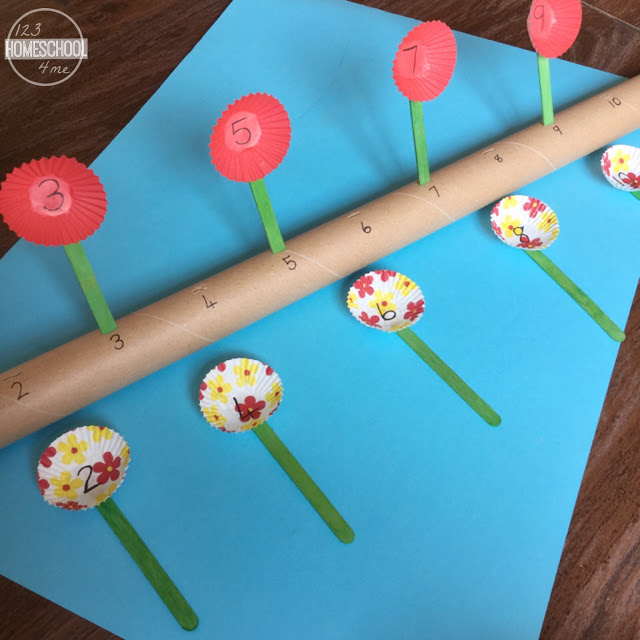 Flower Number Line Fun Family Crafts