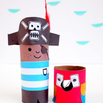 Mr. Pirate and Mr. Parrot Cardboard Tubes
