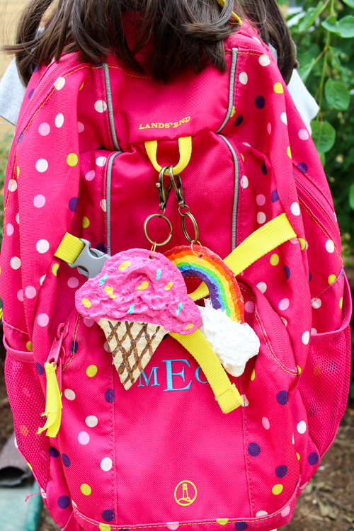 Cereal Box Backpack Charms | Fun Family Crafts