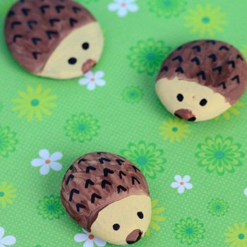 Hedgehog Painted Rocks