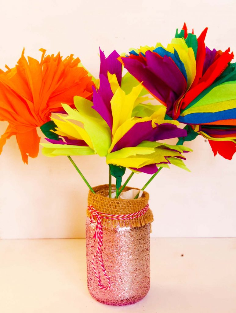 Tissue Paper Flowers Fun Family Crafts