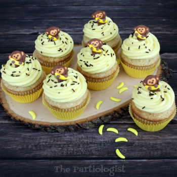 Curious George Banana Cupcakes