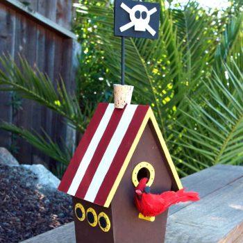 Pirate Ship Birdhouse