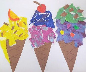 Thiebaud-Inspired Ice Cream Art