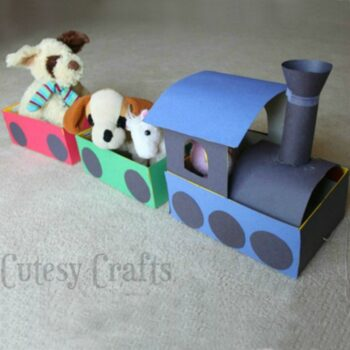 recycled shoebox train