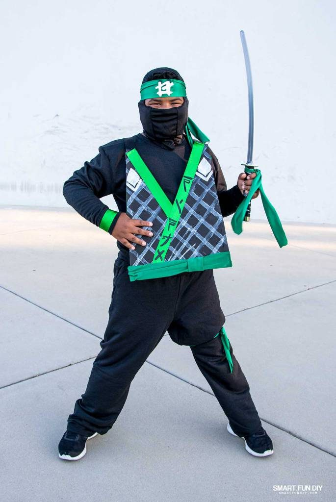 Lego ninjago movie costume fun family crafts lego fans will love this do it yourself ninjago movie costume inspired by lloyd aka the green ninja its perfect for halloween or pretend play solutioingenieria Gallery