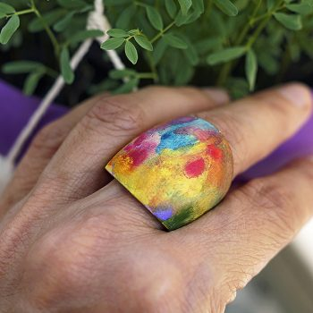 Wooden Art Ring