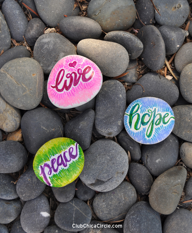painting rocks with markers fun family crafts