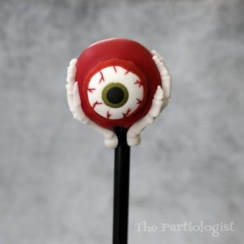 Eerie Eyeball Skeleton Hand Cake Pop