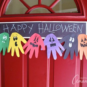 Halloween Handprint Ghoul Banner