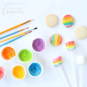 Marshmallow Edible Paint