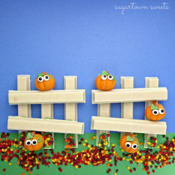 Pumpkins On a Fence Kit Kat Craft