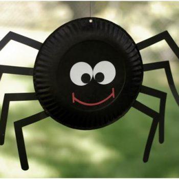 Halloween Paper Plate Spider