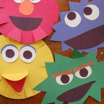 Sesame Street Characters Cutting Craft