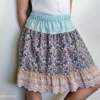 Tiered Skirt with Lace Ruffle