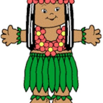 Playtime Hawaiian Paper Doll