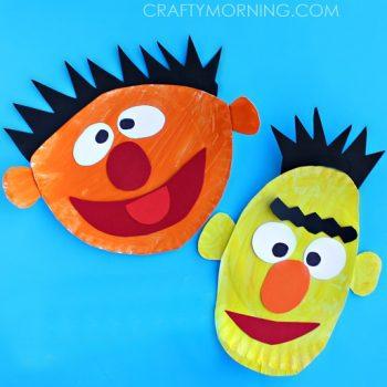 Paper Plate Ernie and Bert