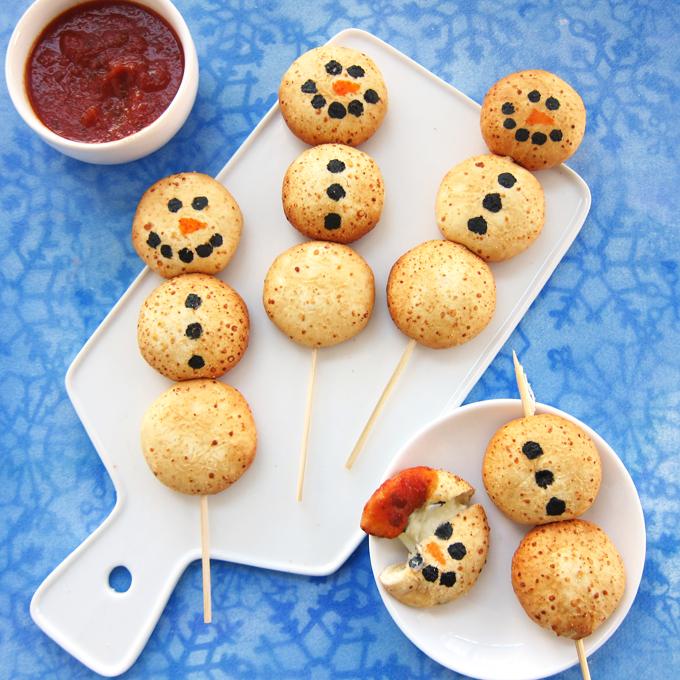 Cheesy Snowman Snacks