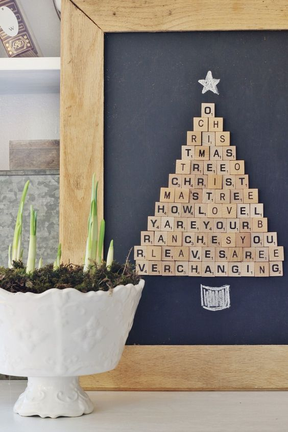 Scrabble Tile Christmas Tree Fun Family Crafts