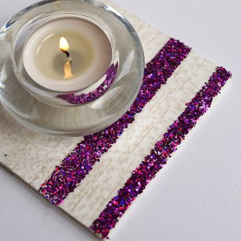 Balsa Glitter Coasters